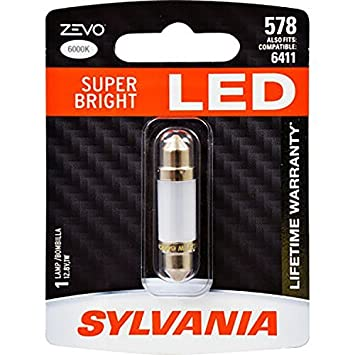 Amazon.com: SYLVANIA - 578 41mm ZEVO LED Festoon Blue Bulb - Bright LED Bulb, Ideal for Interior Lighting (Contains 1 Bulb): Automotive