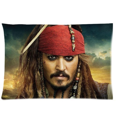 [Custom Cotton 20*30 Queen Size Johnny Depp Bedding Pillow Case Cusion Case] (Sweeney Todd Halloween)