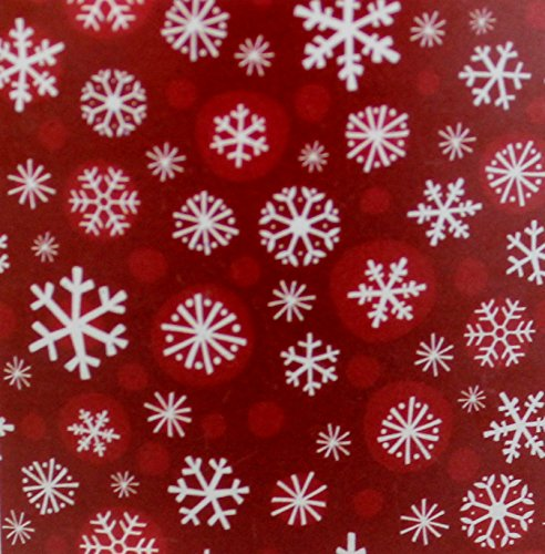 Holiday Time Plush Throw Red Snowflake Design