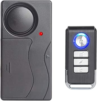 Wsdcam Wireless Vibration Alarm with Remote Control Anti-Theft Alarm Security