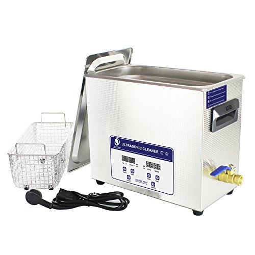 Messer industrial 6.5L Digital Control Ultrasonic Cleaner for Auto Engine Parts, Moto/Auto parts, Commercial Component,Hospital Medical Equipment/Devices Cleaning - Watchmakers Parts