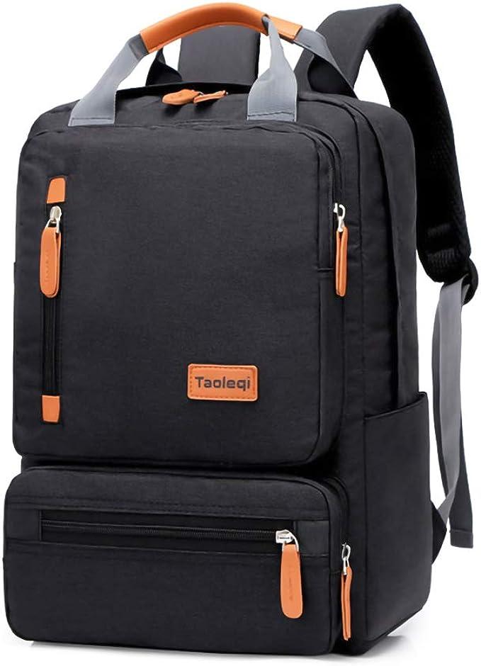 Welltop - Mochila para portátil de 15,6 pulgadas, impermeable, mochila escolar grande, para viajes, negocios, universidad, hombres (negro): Amazon.es: Ropa y accesorios