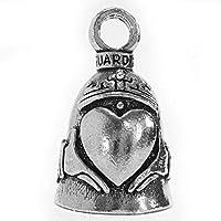 Guardian Bell Keltische Claddagh hart motorfiets biker geluk Gremlin rijbel, zilver