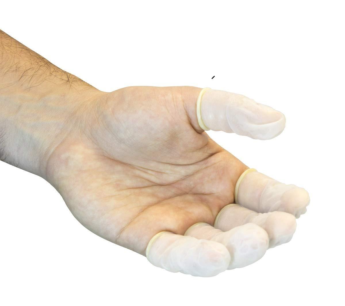 Seidman & Associate X-Large Natural Safety Zone 5 mil Latex Powder-Free Disposable Finger Cots (720 Per Bag) - 40 Bag/Case by Seidman Associates