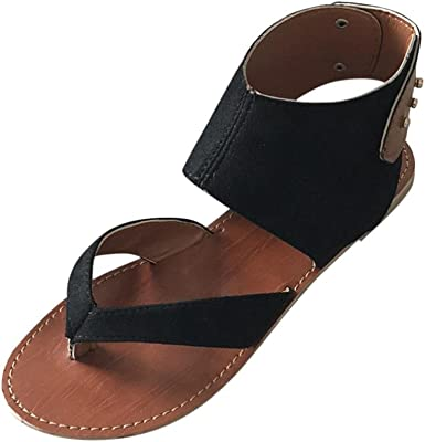 Sandales Plates Chaussures Escarpins,D'été Femmes Sandales