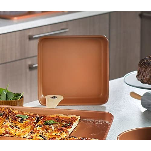 "Gotham Steel Bakeware - Nonstick Copper Square Baking Tin - 9.5"" x 9.5"""
