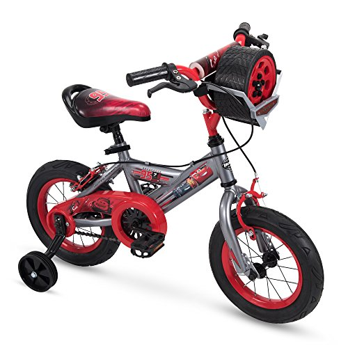 Huffy Disney Cars Boys Bike with Lights & Sounds Toy, Training Wheels