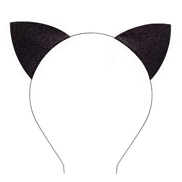 Kids Girl Sequin Cat Ear Headband Costume Fancy Dress Party Ears Hairband