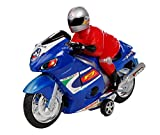 Jiada Friction Powered Racing Bike Toy For Kids - Multicolour