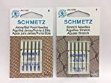CESDes Bundle Schmetz Sewing Machine Needles for Stretch and Knitwear fabrics-5 each Stretch and Jersey Ball Point