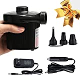 #3: Mcrety Quick-Fill Portable Air Pump Car&home two use Electric Air Pump for Inflatables Quick Inflate Deflate Air Mattress Air Bed Swimming Ring Pool Floats