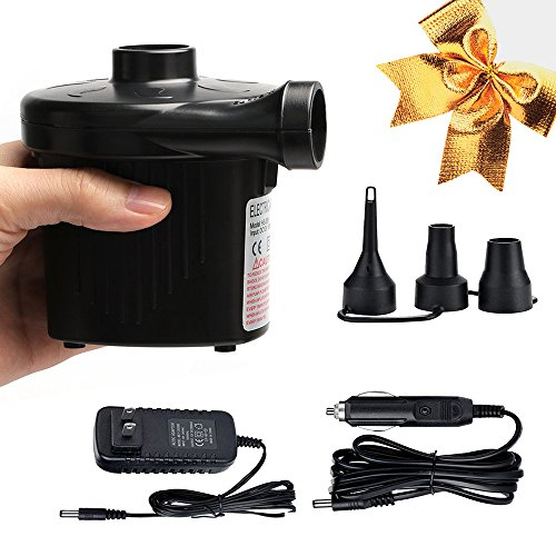 Read About Mcrety Quick-Fill Portable Air Pump Car&home two use Electric Air Pump for Inflatables Qu...