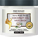 Hair Mask for Growth Coconut Oil Hair Mask, 8.8 fl. oz. Restorative Hair Mask, Deep Conditioner for Damaged & Dry Hair, Heals & Restructures Hair Shaft & Growth, Nourishes Scalp, Removes Residue Buildup ..Sulfate Free