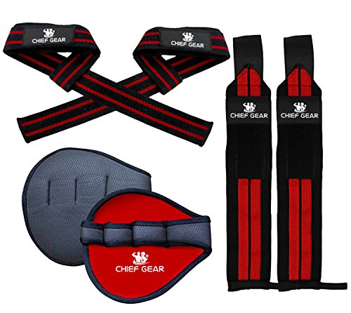 Wrist Wraps + Lifting Straps + Grip Pads Bundle - Ultimate 3-in-1 Fitness Package To Improve Hand Strength & Support For Weightlifting, Bodybuilding, Crossfit, Gym & - Platform Powerlifting