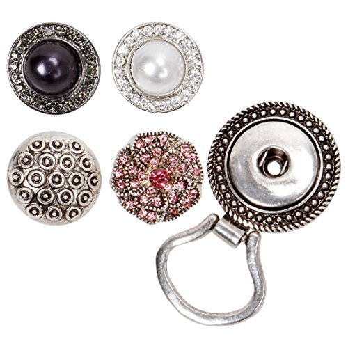 BMC Interchangeable Snap Centerpiece Eye Glass Holding Magnetic Brooch - Set 3
