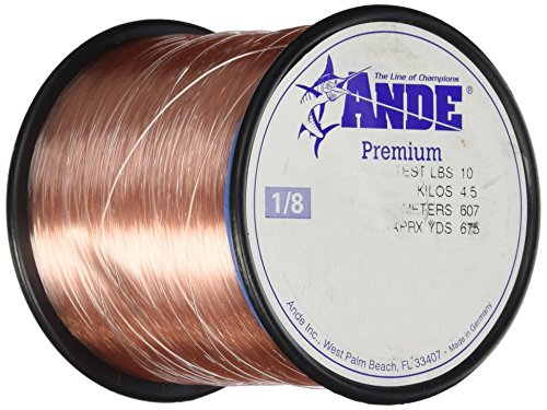 (Ande Premium Monofilament Line with 10-Pound Test, Pink, 0.125-Pound Spool (675-Yard))