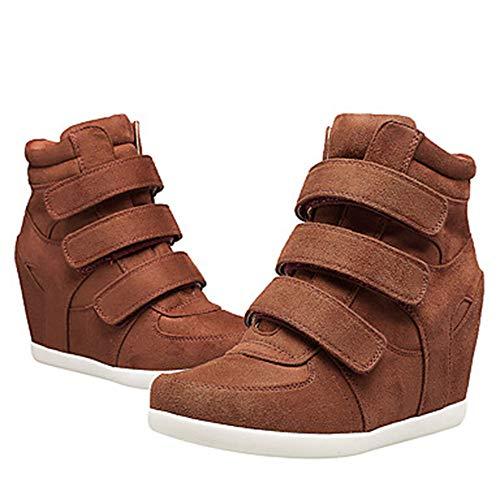 Sneakers Primavera CN38 Vino Scarpe 5 Zeppa EU38 US7 Comoda Stivali Blu Donna Per 5 Brown TTSHOES Marrone UK5 Nappa Ipw40nq