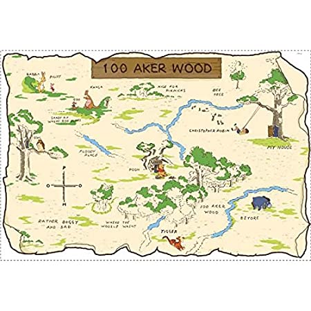 Amazon.com: RoomMates Winnie The Pooh 100 Aker Wood Peel and Stick Map: Gateway