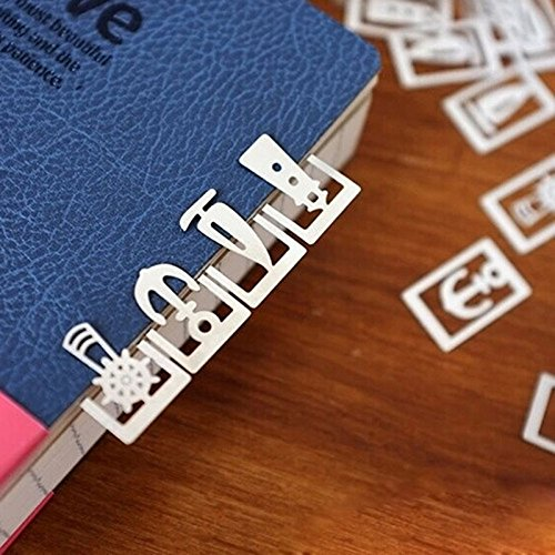 Bookmarks Mini Metal 20 Pcs/ Box 1.91.3cm. Bookmark / Office Decoration Gift Promotion. School - Charm Lion Italian