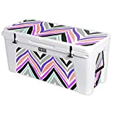 MightySkins Protective Vinyl Skin Decal for YETI Tundra 160 qt Cooler wrap Cover Sticker Skins Colorful Chevron