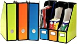 6 Pack - SimpleHouseware Classroom Magazine File Holder Organizer Box