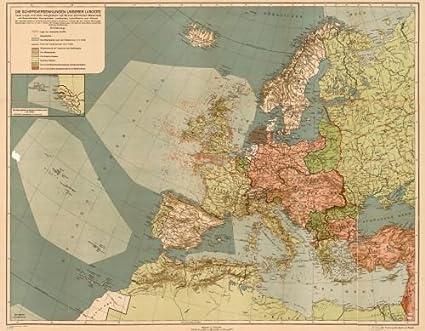 Amazon.com: 1918 Map Die Schiffsversenkungen unserer U-Boote ...