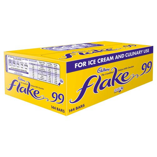 (Cadbury Flake 99 for Ice Cream and Culinary use. 1 Box of 144 Bars.)
