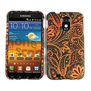Cell Armor Samsung Epic 4G Touch Snap Case - Carrying Case - Retail Packaging - Flowers on Dark Green by mcsharks