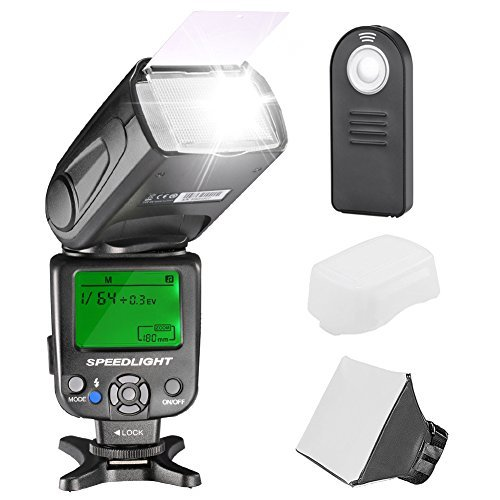 Neewer NW620 Manual Flash Speedlite Kit for Canon Nikon Sony Pentax DSLR Cameras,Includes: (1)NW620 GN58 Flash,(1)Soft/Hard Diffuser,(1)4-in-1 Remote Control ()