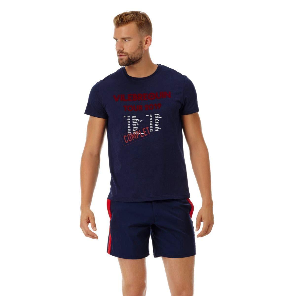bleu Marine XS Vilebrequin - T-Shirt en Coton Homme Tour