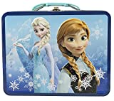 Disney Frozen 3D Design Embossed - Metal Tin Lunchbox (Navy)