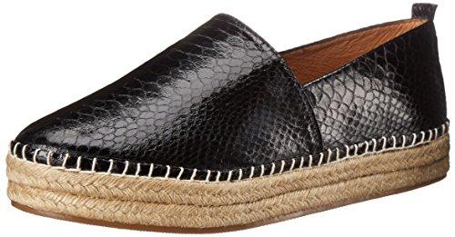 Steve Madden Women's Pacificc Boat Shoe, Black Snake, 7.5 M US