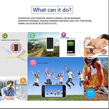 Fitness Bluetooth Deportes reloj de pulsera Tracker podómetro ...