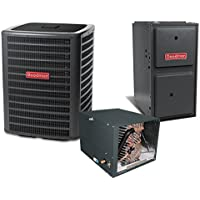 2 Ton 15.5 SEER 2 Stage 60k BTU 96% AFUE Variable Speed Goodman Central Heat Pump & Gas Split System - Horizontal