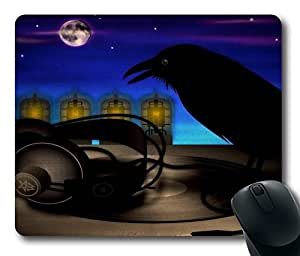 """Audiophile Raven Laser Custom Rectangle Mouse Pad Oblong Gaming Mousepad in 220mm*180mm*3mm (9""""*7"""") -1045"""