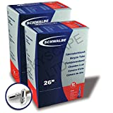 2 x Schwalbe Inner Tubes - 26'' x 1.50 to 2.50 (Fits any 26 x 1.50, 1.75, 1.90, 1.95, 2.00, 2.1, 2.125, 2.5, 2.35, 2.50) - Presta Valve - PAIR - FREE SHIPPING! FREE VALVE CAP UPGRADE WORTH $4.99! [No. SV13]