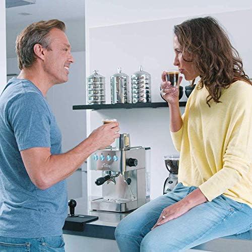 Espressomachine 15 bar stoom en heet water functie programmeerbaar cupmaat, 58mm professionele filterhouder, 1,7 l watertank, roestvrijstaal