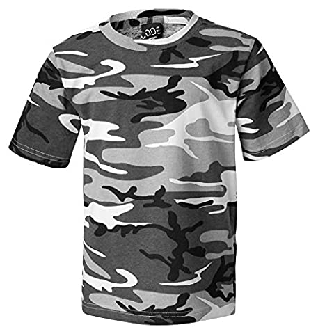 Code V Adult Camouflage Ribbed Woodland T-Shirt, Urban Woodland, X-Large - Woodland Camouflage Tee T-shirt Top