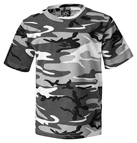 Code V Adult Camouflage Ribbed Woodland T-Shirt, Urban Woodland, - Woodland Ribbed Jersey