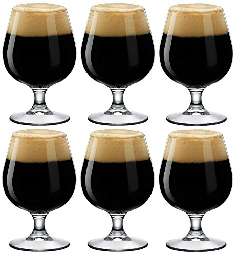 Bormioli Rocco Craft Beer/Ale Snifter Glasses - Gift Box Of 6-530ml (18oz) (Best Glass For Stout)