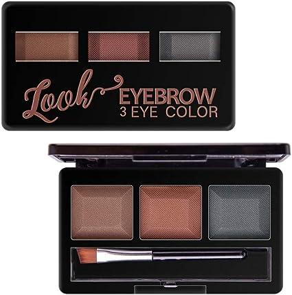 Cutelove 3 colores paleta de cejas en polvo para maquillaje, estuche de maquillaje para cejas impermeable y a prueba de manchas con pinceles de maquillaje Juego de espejos: Amazon.es: Belleza