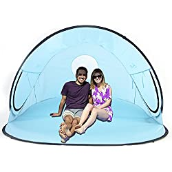La Jolla Instant Family Tent 2-3 Person Large Automatic Pop Up Tents Waterproof for Outdoor Sports Camping Hiking Travel Beach