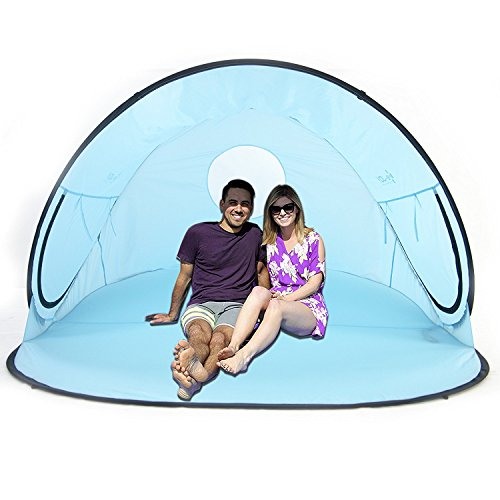 La Jolla Instant Family Tent 2-3 Person Large Automatic Pop Up Tents...