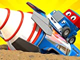The giant drill / The Rocket Truck / The Magnet Crane Truck / The Gardening Truck