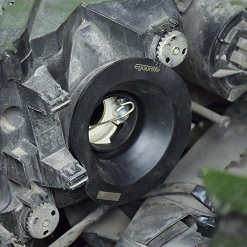 1 Pair Rubber 1.5/'/' Headlight Housing Extended Dust Cover Boot Cap Universal