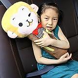 Wishlanlan Big Cartoon Animals Car Seat Belt Covers for Kids, Seat Belt Pillow, Adjust Vehicle Shoulder Pads,Headrest Neck Support for Children Kid Adult (Monkey)