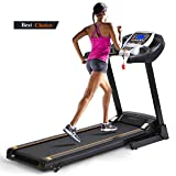 Anfan Folding Electric Treadmill, Fitness Running Machine with Led Display for Cardio Fitness Training (US STOCK) (Silver)