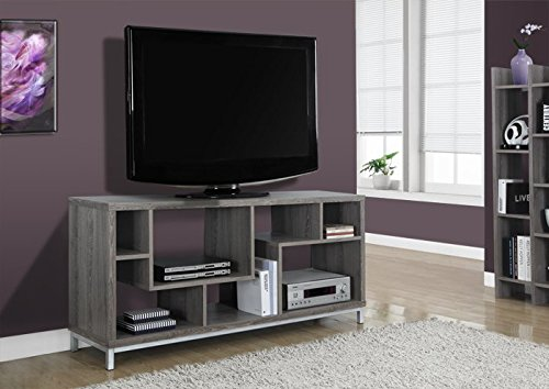 (Monarch Specialties I 2578 Dark Taupe TV Stand, 60
