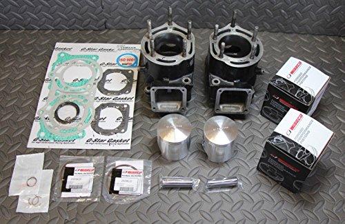 Yamaha Banshee Cylinders (FRESH BORE Yamaha Banshee cylinders jugs 65.00mm NEW WISECO PISTONS + gaskets)