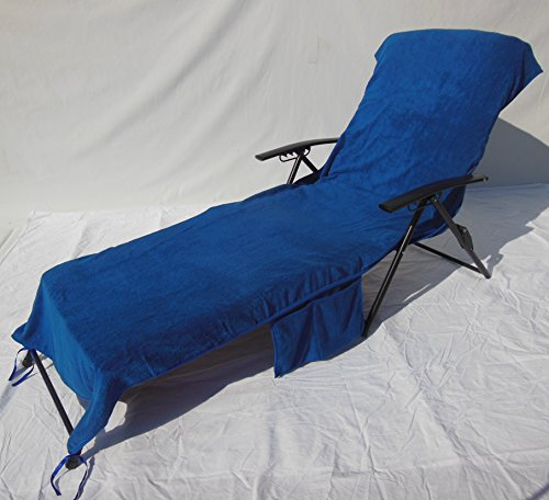 Veradox Designs Lounge Chair II Seat Towel Cover (Classic Blue) by Veradox Designs